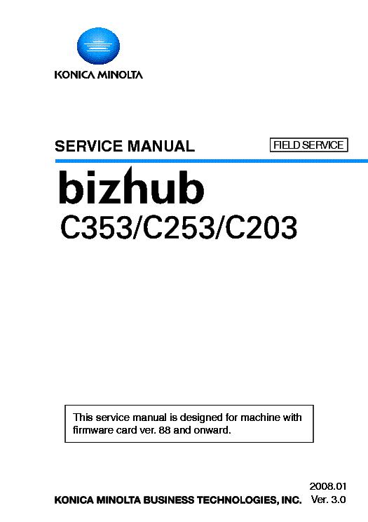 konica minolta bizhub c203 service manual open source user manual u2022 rh dramatic varieties com bizhub c35p service manual Bizhub C353