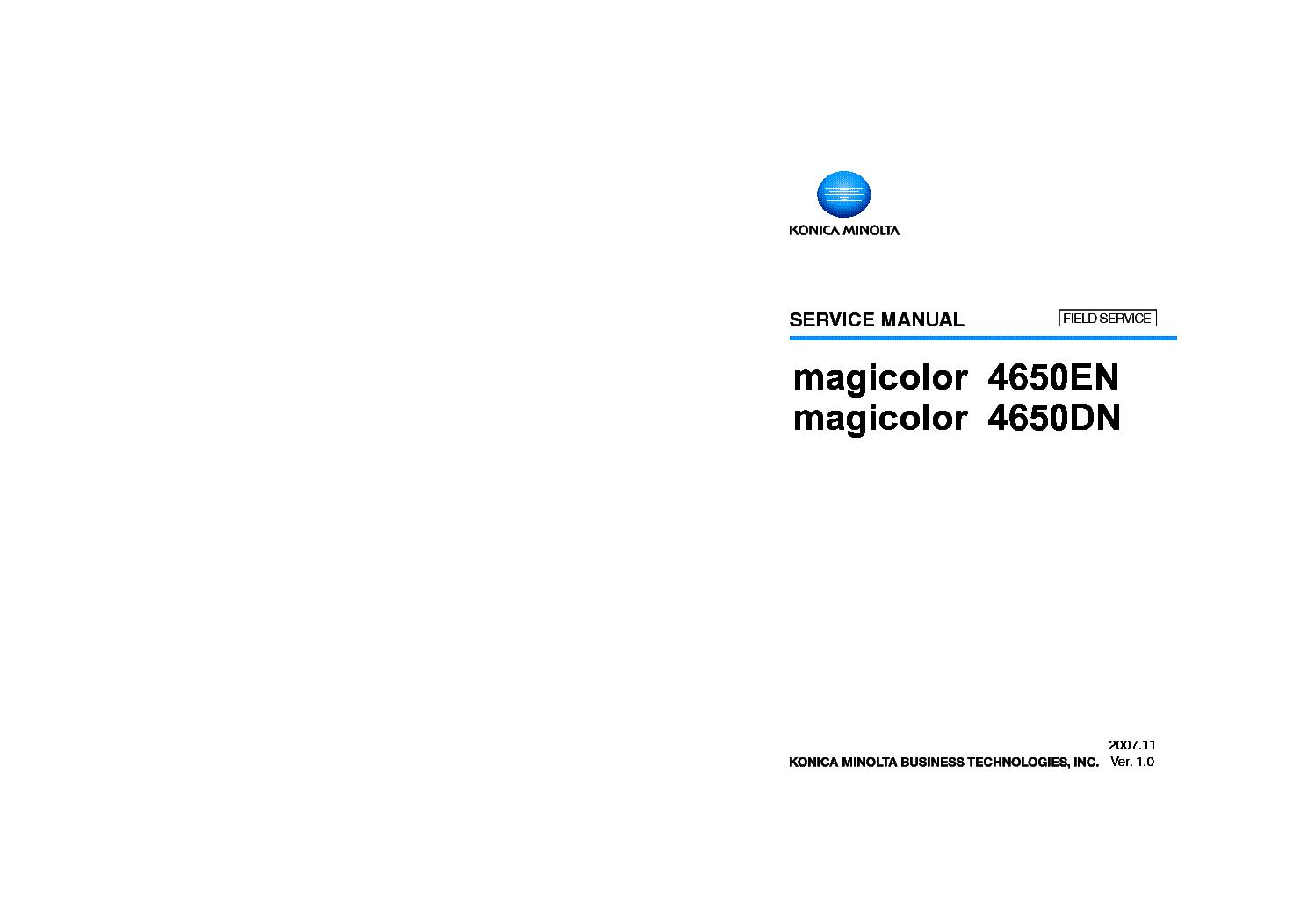 Similar manuals: KONICA MINOLTA MAGICOLOR 3100 SM KONICA ...