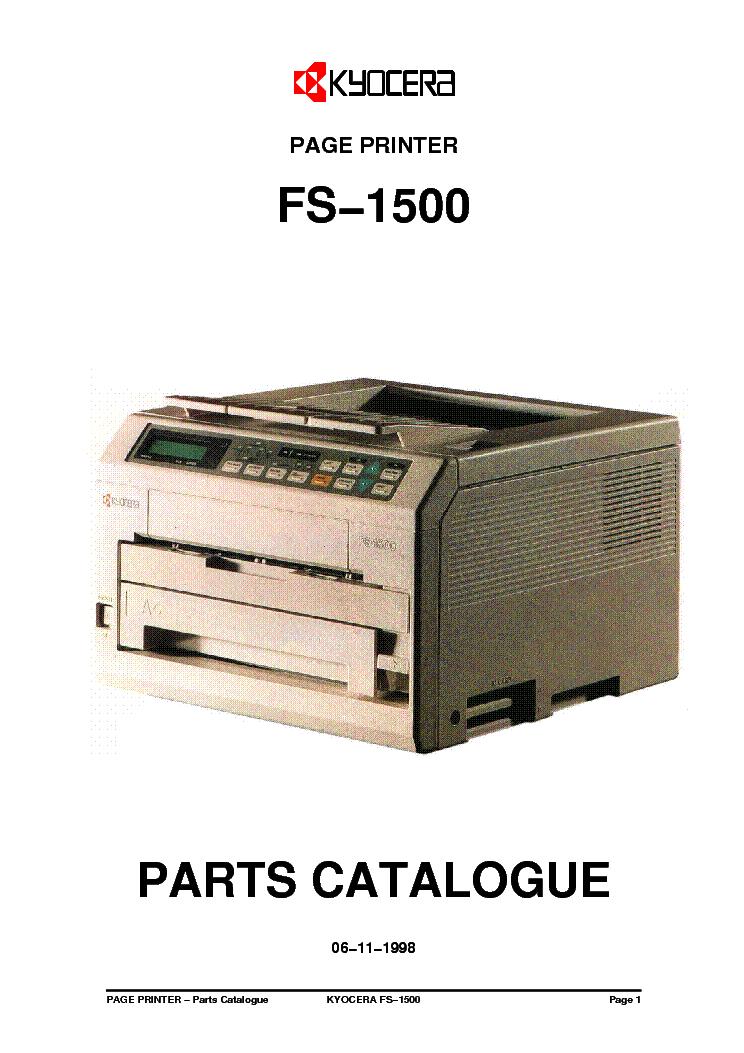 kyocera km 1500 service repair manual parts list
