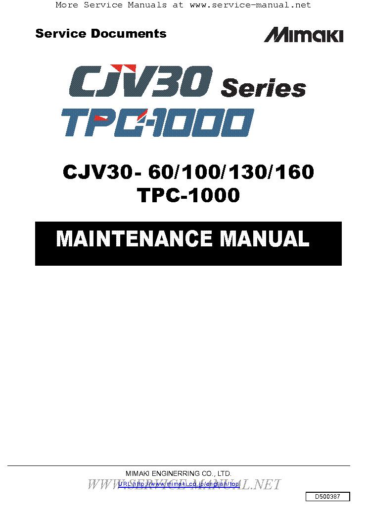 mimaki cjv30 60 cjv30 100 cjv30 130 cjv30 160 tpc 1000 tpc 1000 sm rh elektrotanya com mimaki jv3-160s service manual mimaki jv3 160 sp service manual pdf