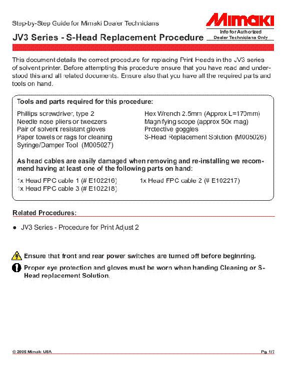 mimaki jv3 series head rplacement service manual download rh elektrotanya com