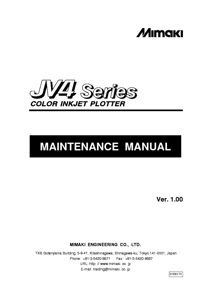 mimaki jv3 series head rplacement service manual download rh elektrotanya com  mimaki jv3 service manual pdf