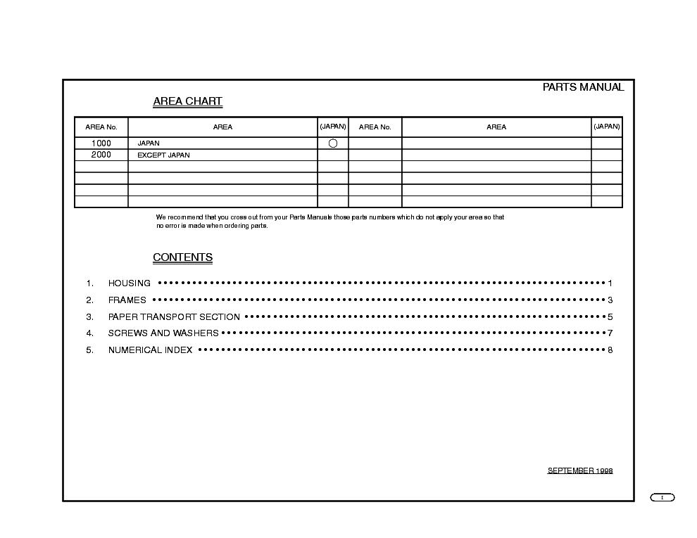 MINOLTA C-101 PARTS Service Manual download, schematics