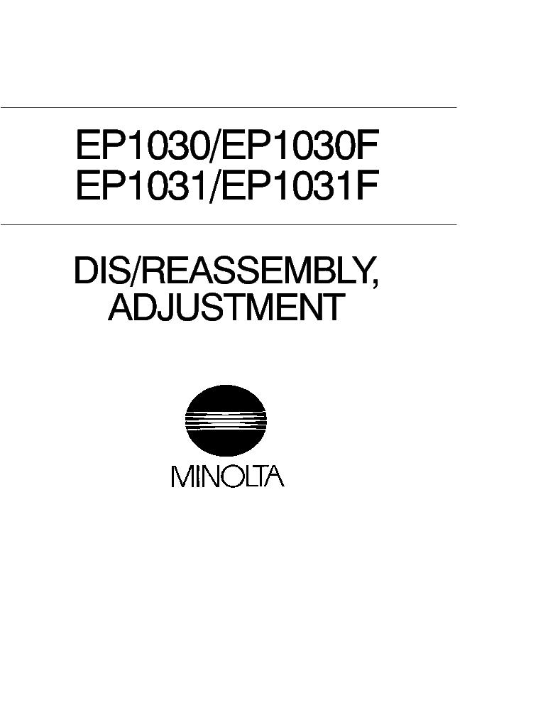 Minolta ep 1030 manual array minolta ep1030 ep1030f ep1031 ep1031f dis reassembly adjustment rh elektrotanya com fandeluxe Images