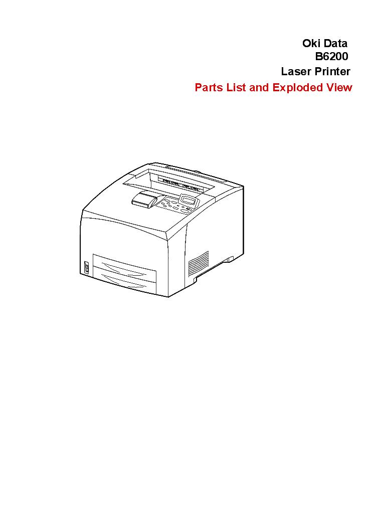OKI B6200 PARTS LIST Service Manual download, schematics
