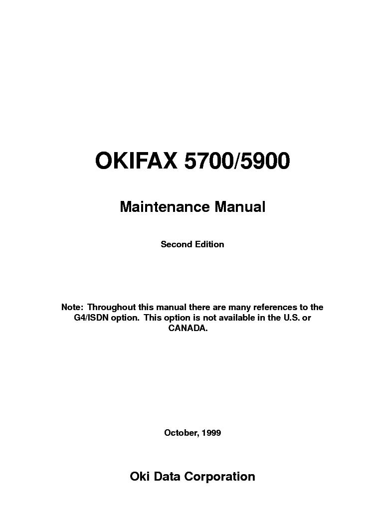 OKI DP-5000 MICRO DRY PRINTER MAINTENANCE Service Manual free ...