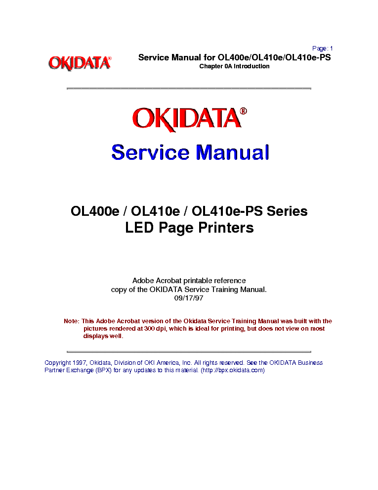 OKIDATA OL400E DRIVER DOWNLOAD FREE