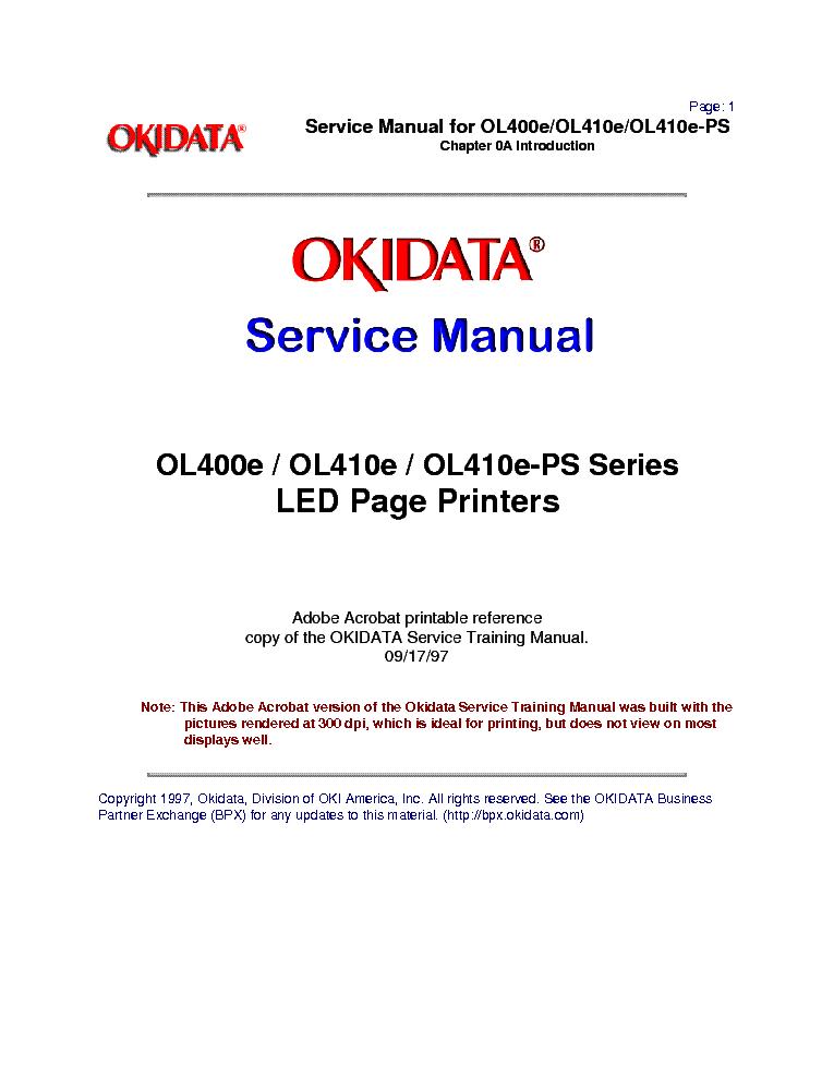 OKIDATA OL400E DRIVER FOR MAC
