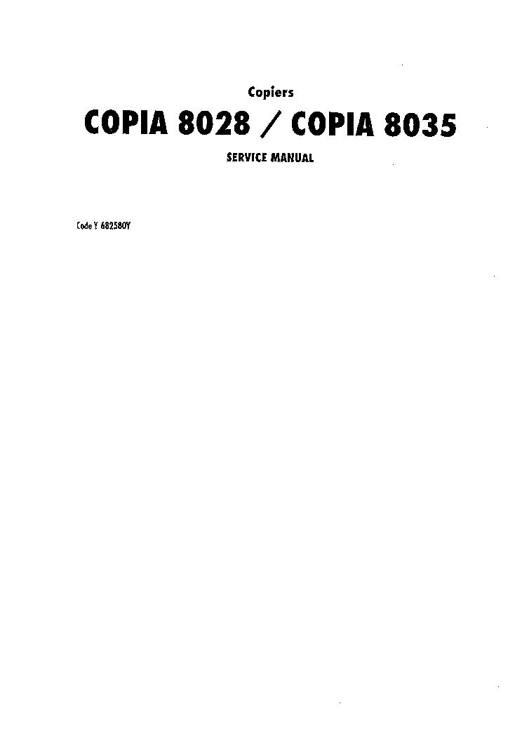olivetti copia 8028 8035 copier service manual download schematics rh elektrotanya com cpi service manual cpi generator service manual