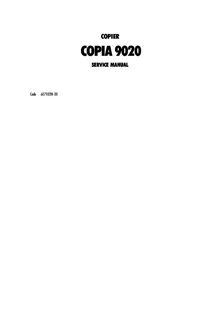 olivetti copia 9020 copier service manual download schematics rh elektrotanya com cpi sm service manual cpi service manual