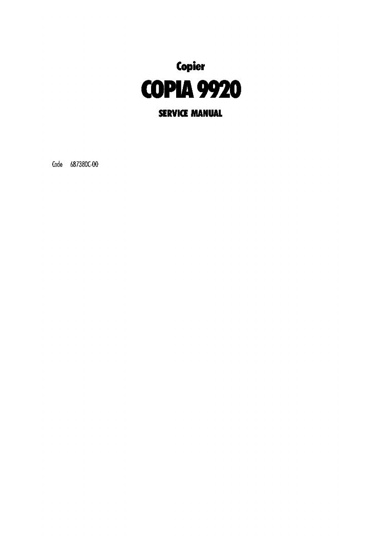 olivetti copia 9920 copier service manual download schematics rh elektrotanya com cpi generator service manual cpi generator service manual