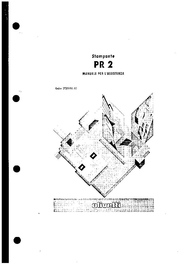 Olivetti pr2 e service manual | electrical connector | usb.