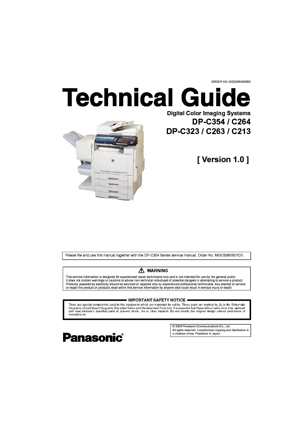 DOWNLOAD DRIVERS: PANASONIC WORKIO DP-C264