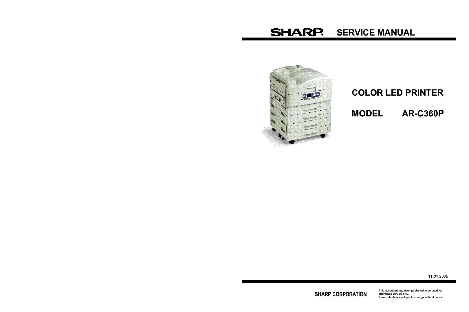 SHARP AR-C360P service manual (1st page)