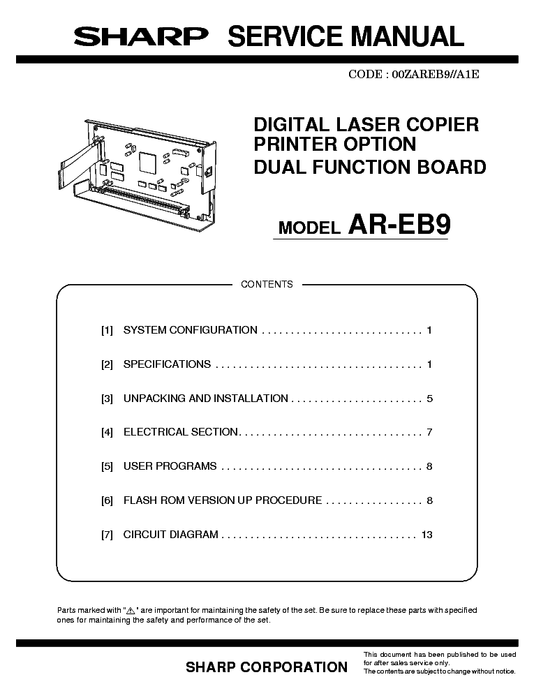 Sharp ar 5618 service manual free download