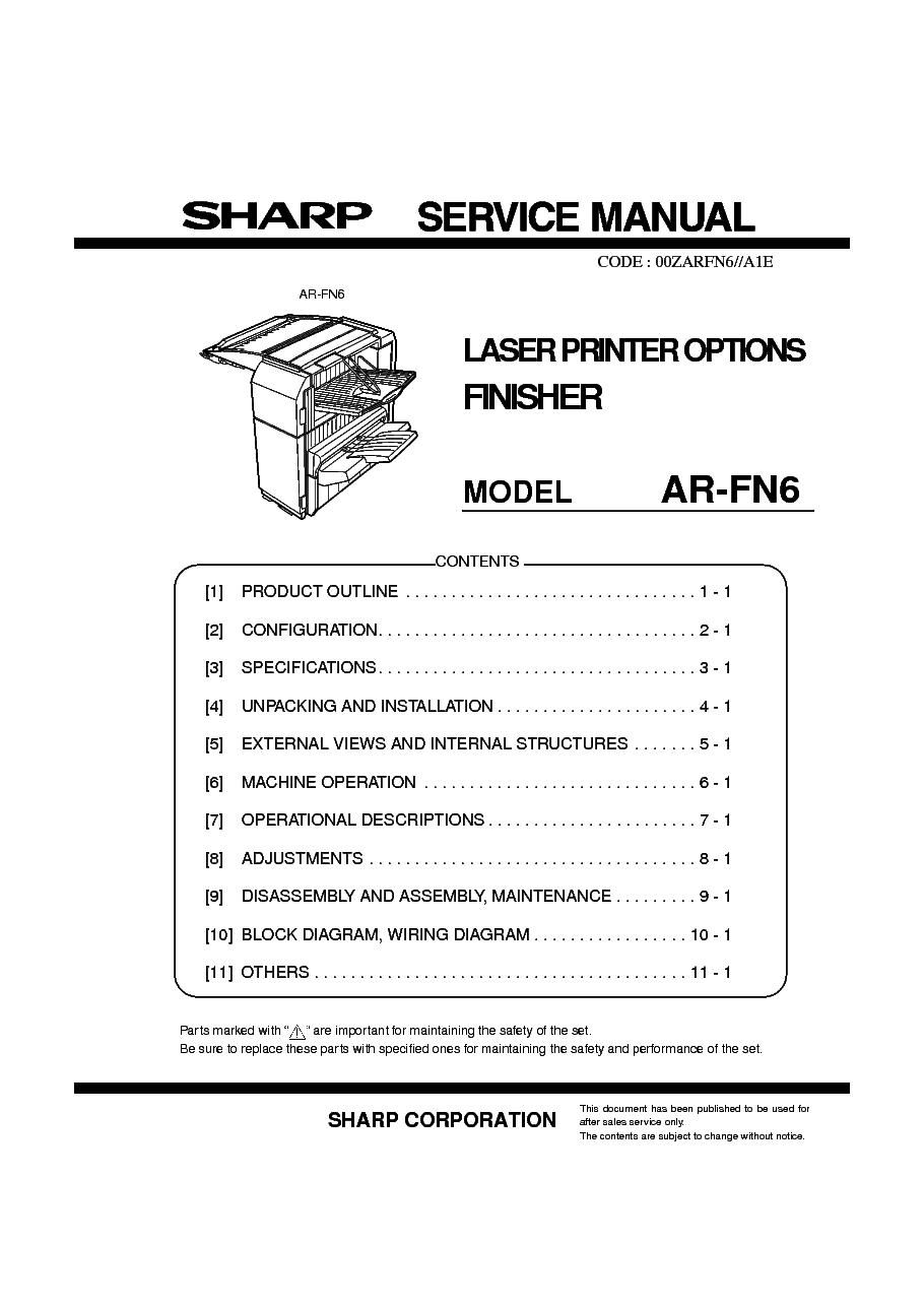 sharp mx m160 m200 series service manual repair guide