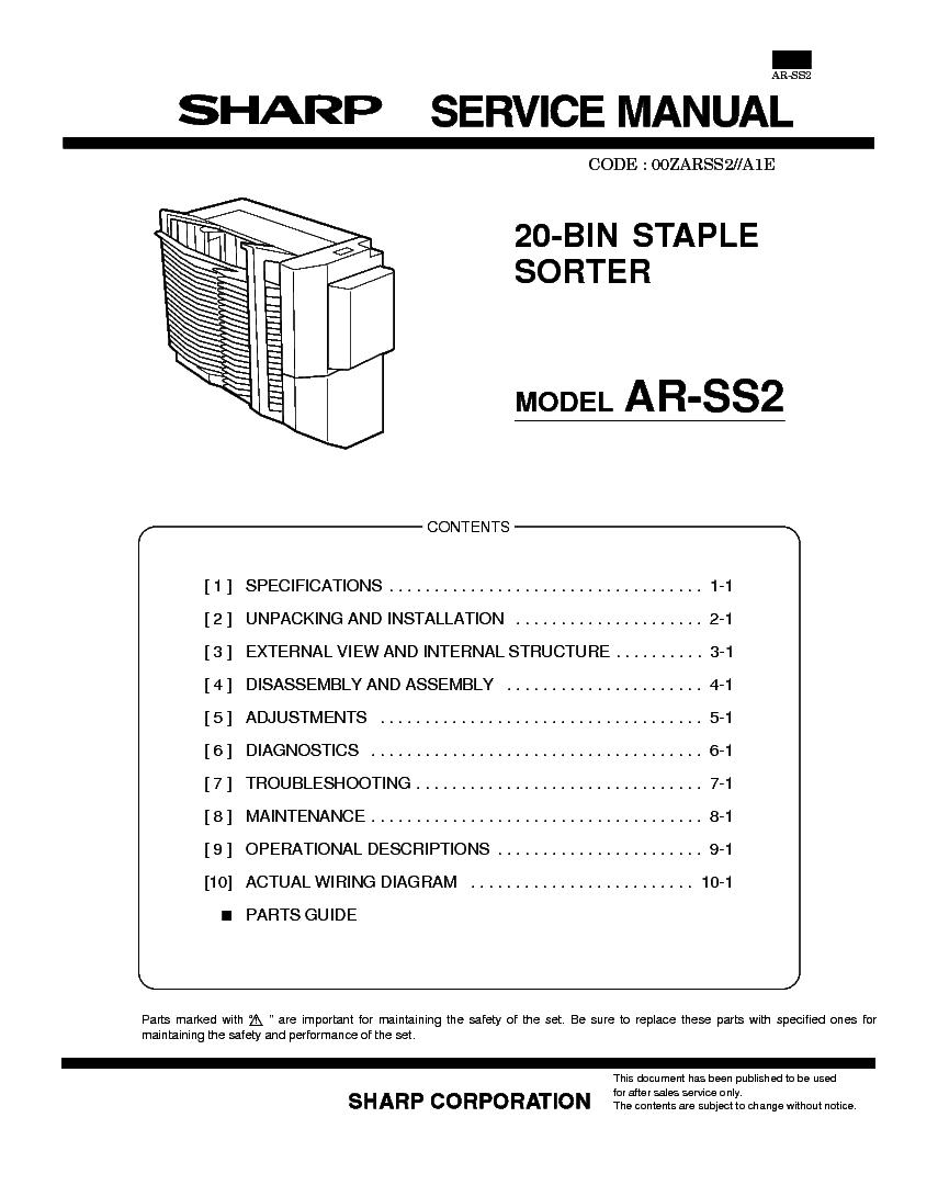 Sharp Mx M550n U M620n M700n Service Manual Download Ss2 Wiring Diagram Ar