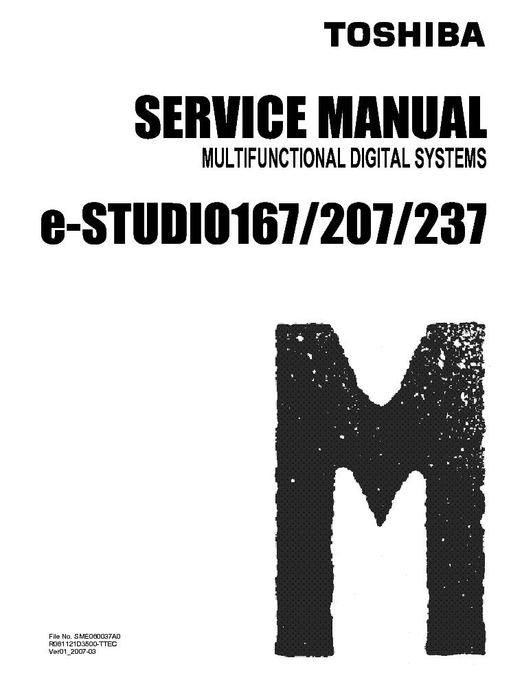 toshiba e studio 167 207 237 sm service manual download schematics rh elektrotanya com Toshiba E Studio Drivers Toshiba E Studio Copiers