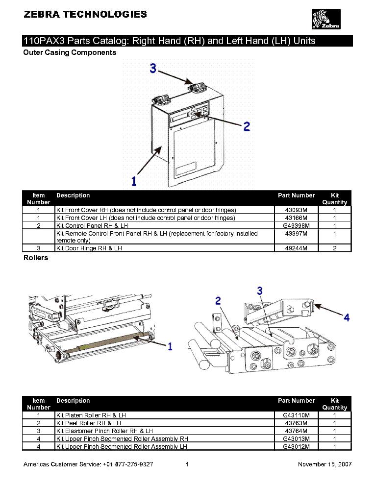 zebra 110pax3 parts catalog service manual download schematics rh elektrotanya com Repair Manuals Manual Book