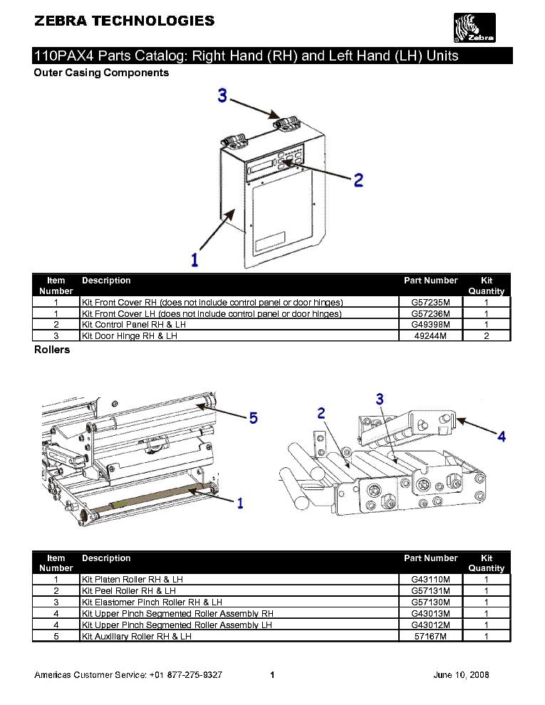 zebra 110pax4 parts catalog service manual download schematics rh elektrotanya com zebra pax4 printer service manual zebra pax4 printer service manual