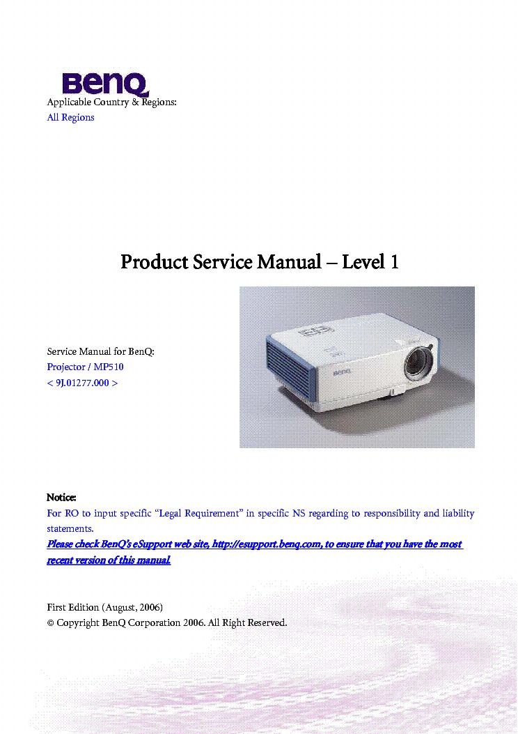 Benq mp 512 инструкция скачать