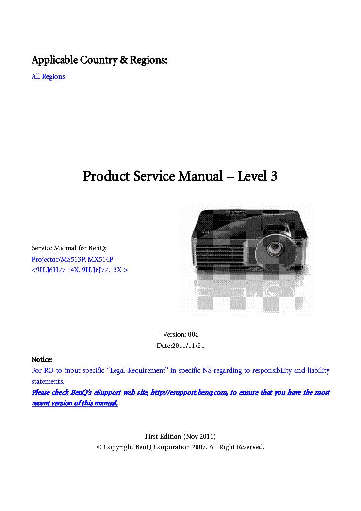 benq ms513p mx514p ver 00a level3 service manual download rh elektrotanya com Aircraft MAINTEANCE Manuals Cessna MAINTEANCE Manual