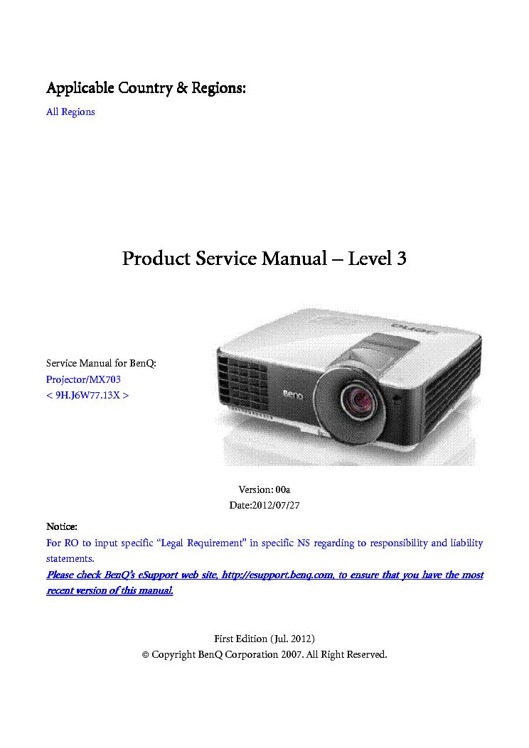 benq w700 w710st ver 02 level2 service manual download schematics rh elektrotanya com