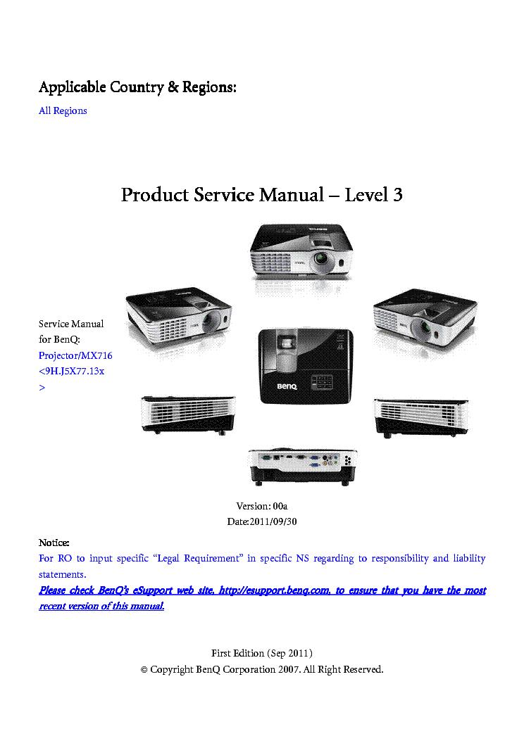 benq w700 w710st ver 02 level2 service manual download schematics rh elektrotanya com benq projector w700 manual benq w700 notice