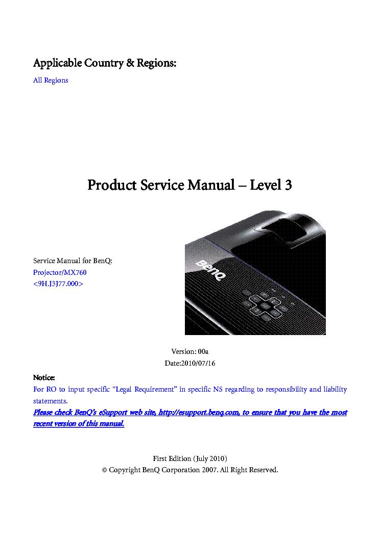 benq w1000 ver 00b level2 service manual download schematics rh elektrotanya com benq mx710 service manual benq mx710 service manual