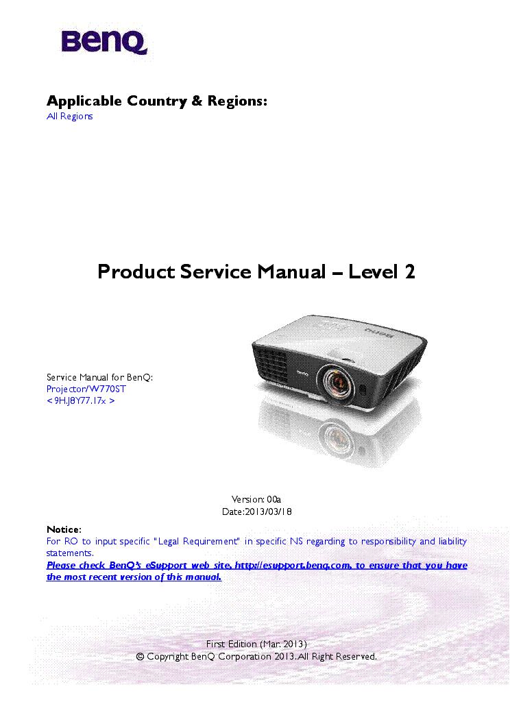 benq pe8700 sm service manual download schematics eeprom repair rh elektrotanya com benq w700 manual benq w700 manuale italiano