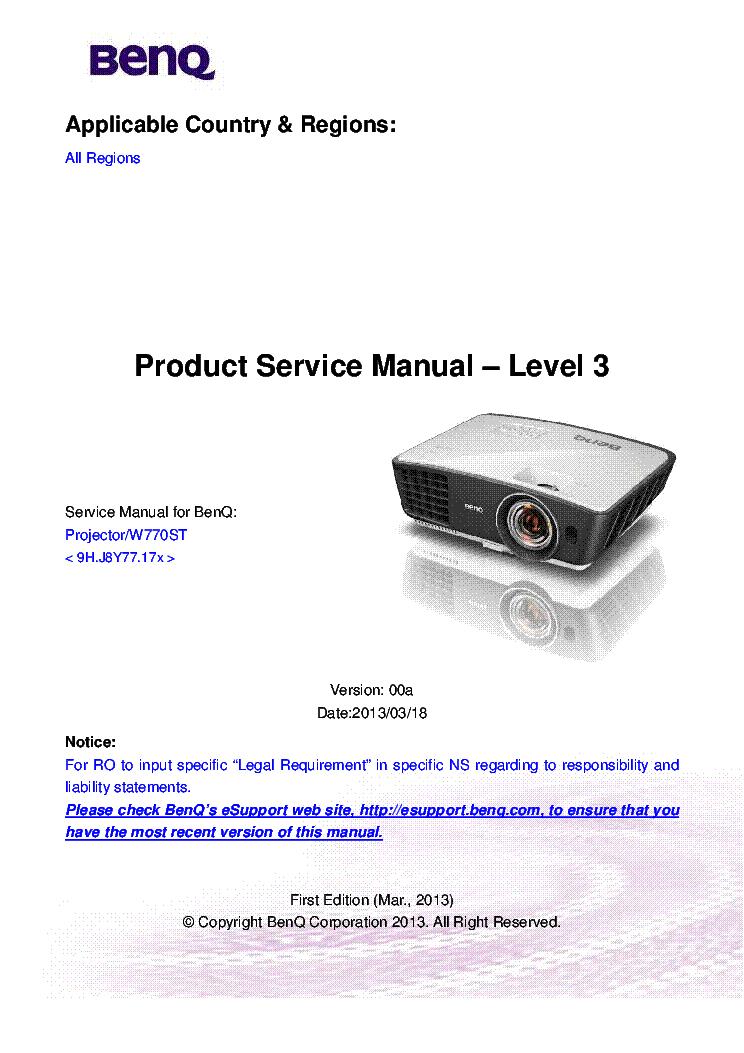 benq pe8700 sm service manual download schematics eeprom repair rh elektrotanya com benq w700 service manual benq w700 manual pdf