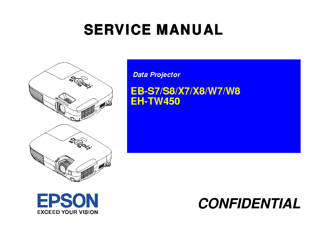 Epson eh tw3000 Projector manual