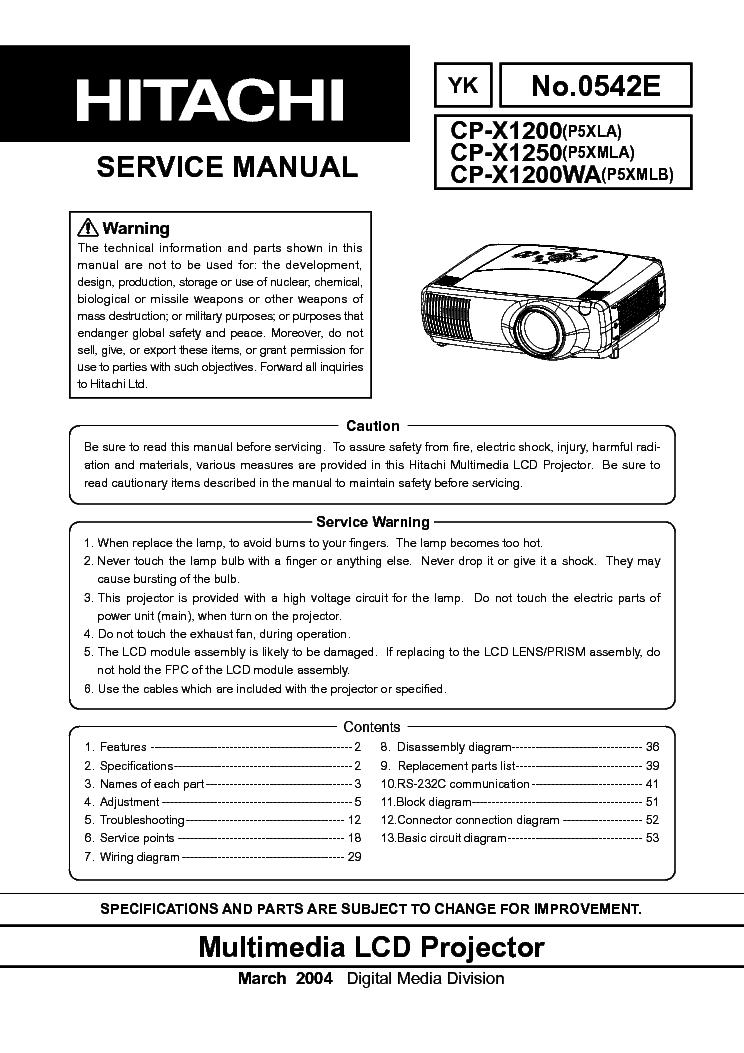 hitachi service manual download rh hitachi service manual download milesfiles de 51 Hitachi Projection TV 51 Hitachi Projection TV