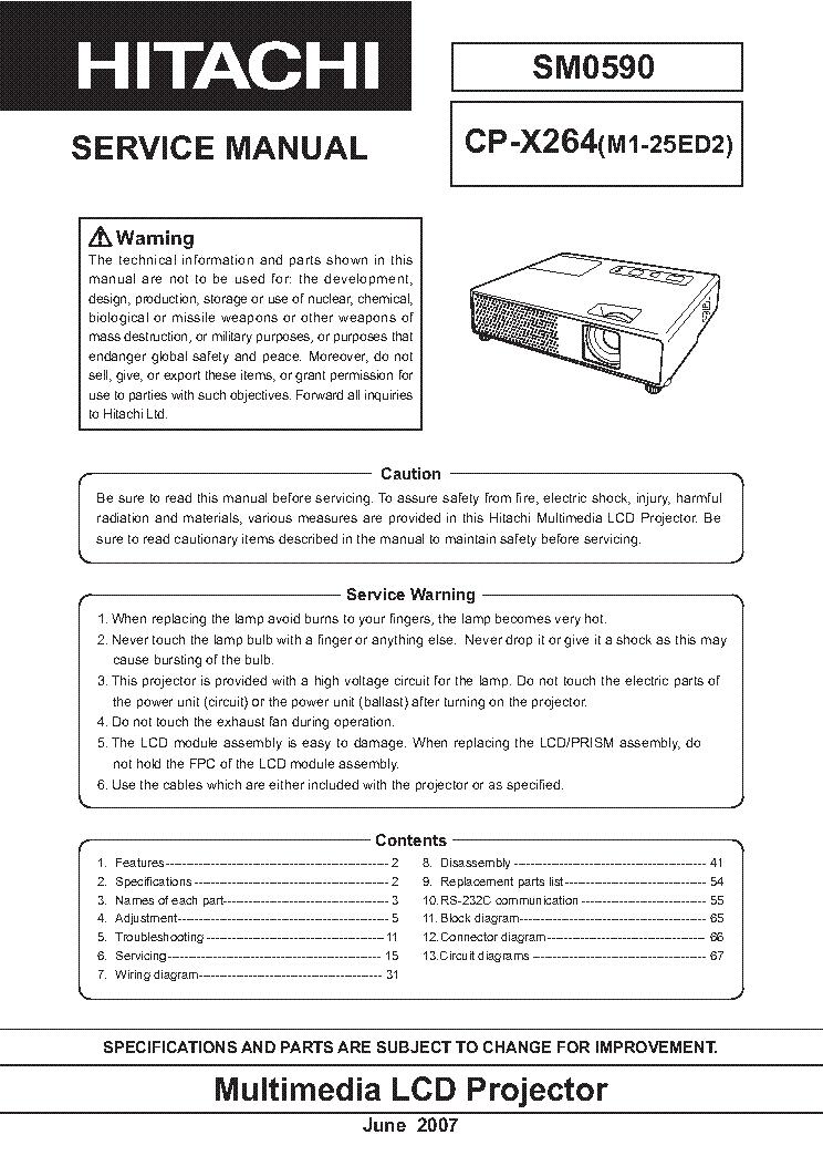 Hitachi x260 Manual