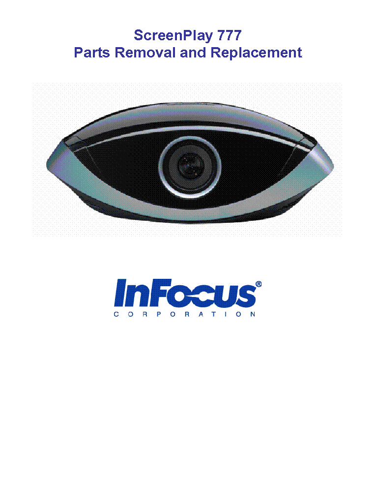 InFocus LP340 Installation Instructions