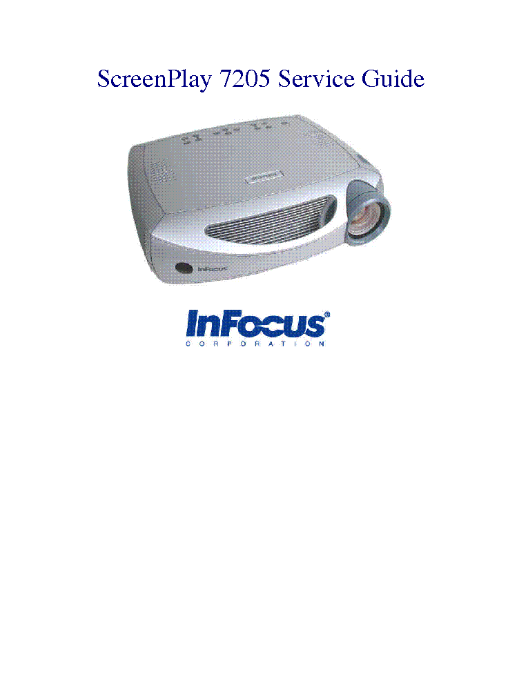 infocus screenplay sp 7205 service manual download schematics rh elektrotanya com infocus x10 service manual infocus in102 service manual