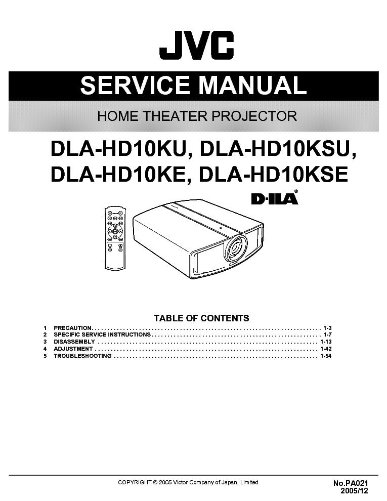 jvc dla hd10k service manual download schematics eeprom repair rh elektrotanya com Chilton Manuals jvc camcorder repair manual