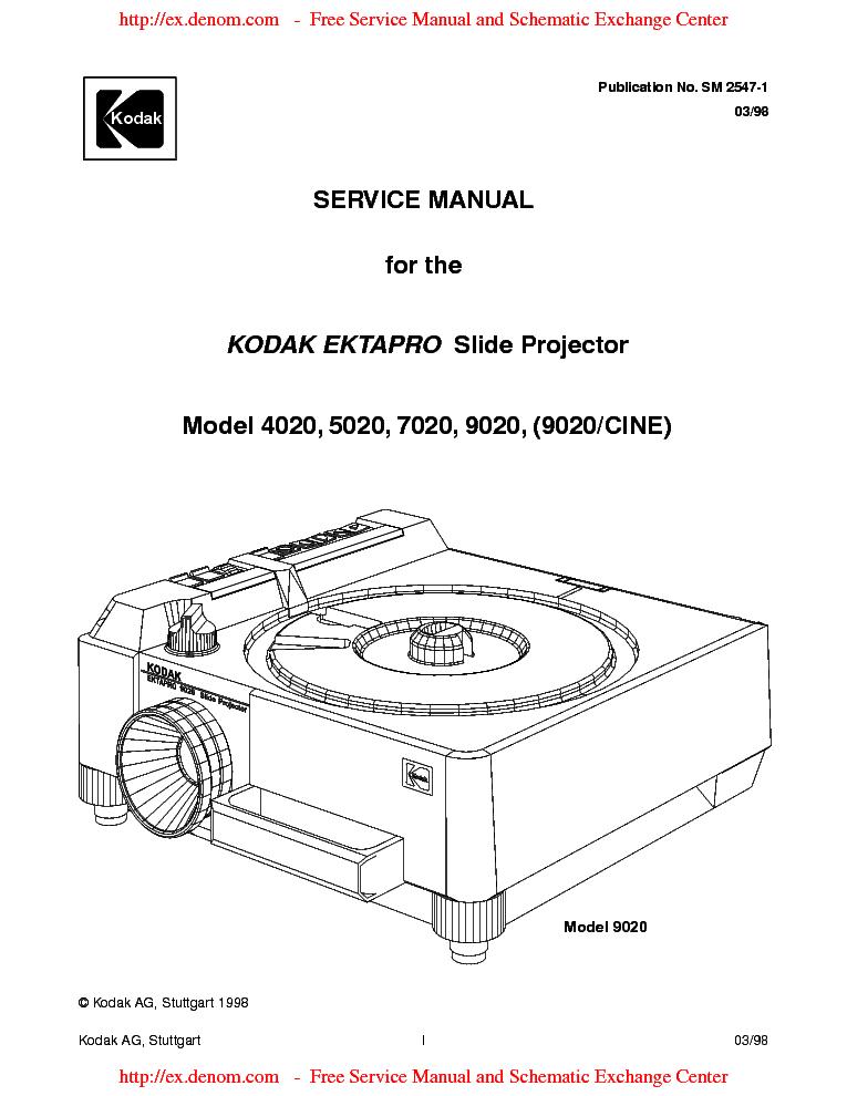 kodak ektapro 9020 service manual download schematics eeprom rh elektrotanya com kodak slide projector repair manual Slide Projector Facility