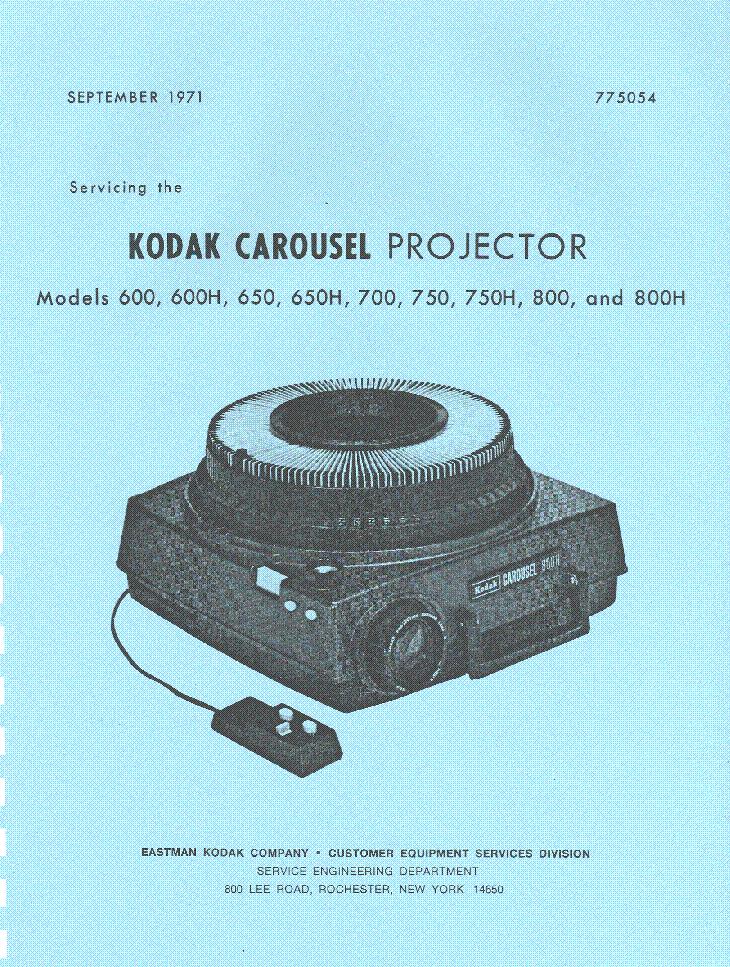 kodak carousel 600 600h 650 650h 700 750 750h 800 800h sm service rh elektrotanya com Slide Projector Facility Slide Projector Facility