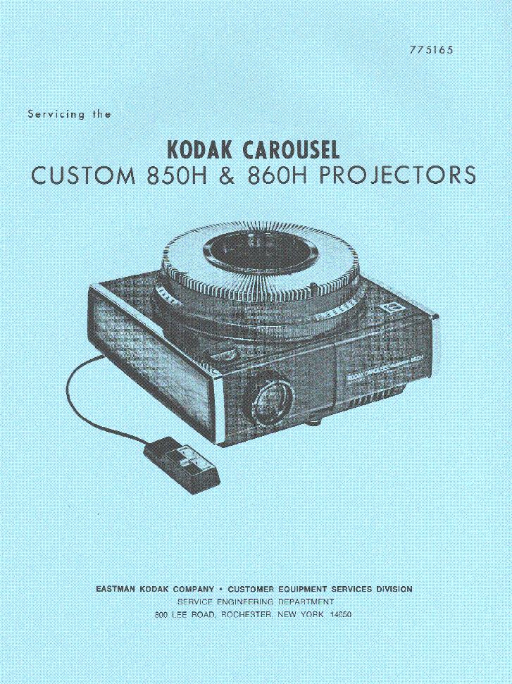 kodak carousel custom 850h 860h sm service manual download rh elektrotanya com Kodak Carousel Slide Projector Kodak Carousel Projector Bulb