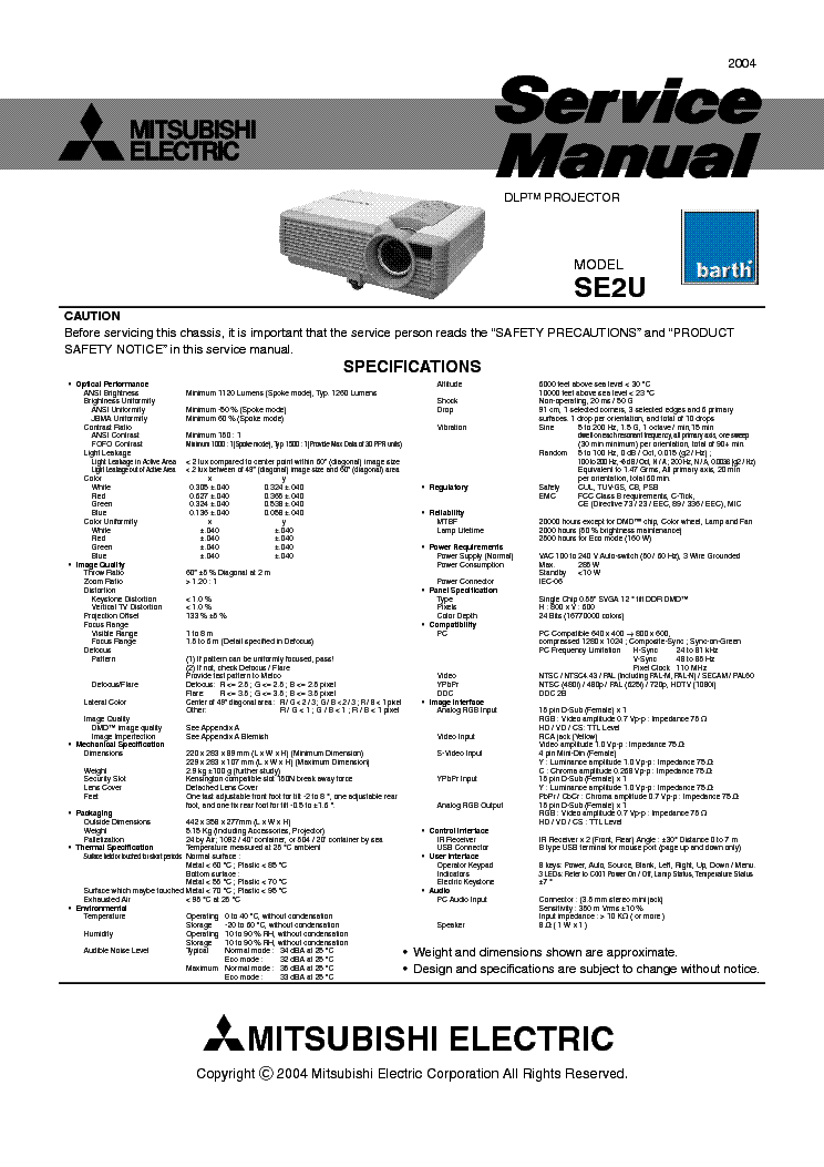 "Mitsubishi wd-73833 73"" diamond series 1080p rear-projection dlp."