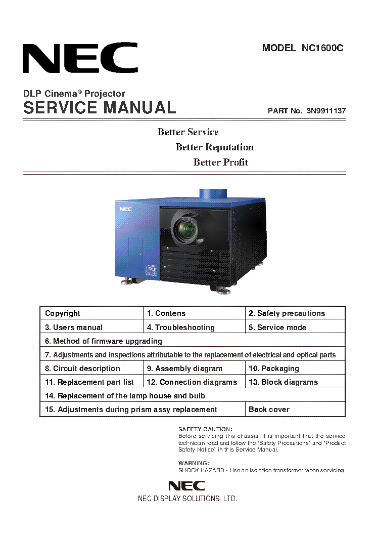 nec nc1600c service manual download schematics eeprom repair info rh elektrotanya com NEC VT695 Lamp Cover NEC VT695 Projector