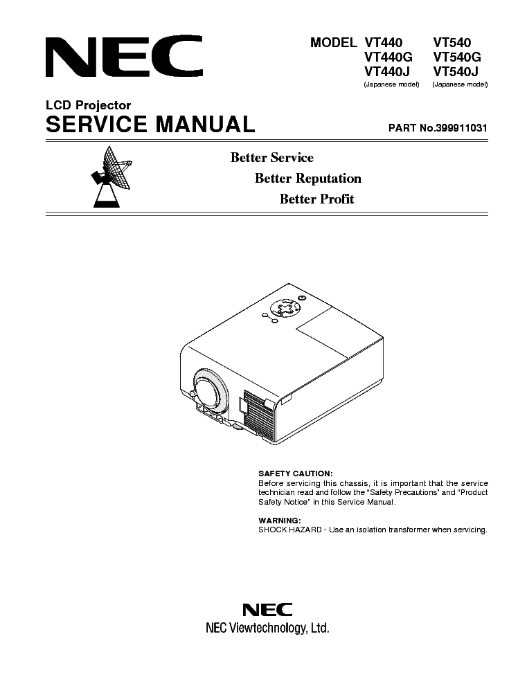 nec vt440 vt540 service manual download schematics eeprom repair rh elektrotanya com Online User Guide Kindle Fire User Guide