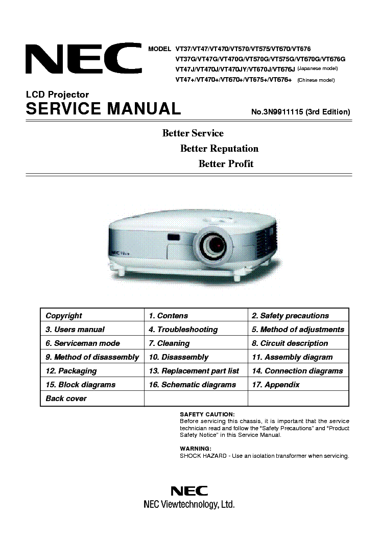nec projector user manual open source user manual u2022 rh dramatic varieties com NEC VT695 Bulb NEC VT595 Remote Control