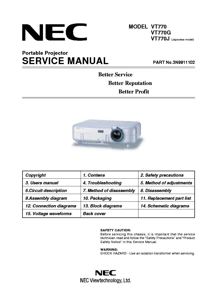 nec vt770 vt770g vt770j sm service manual download schematics rh elektrotanya com NEC VT695 Specs NEC VT695 Specs