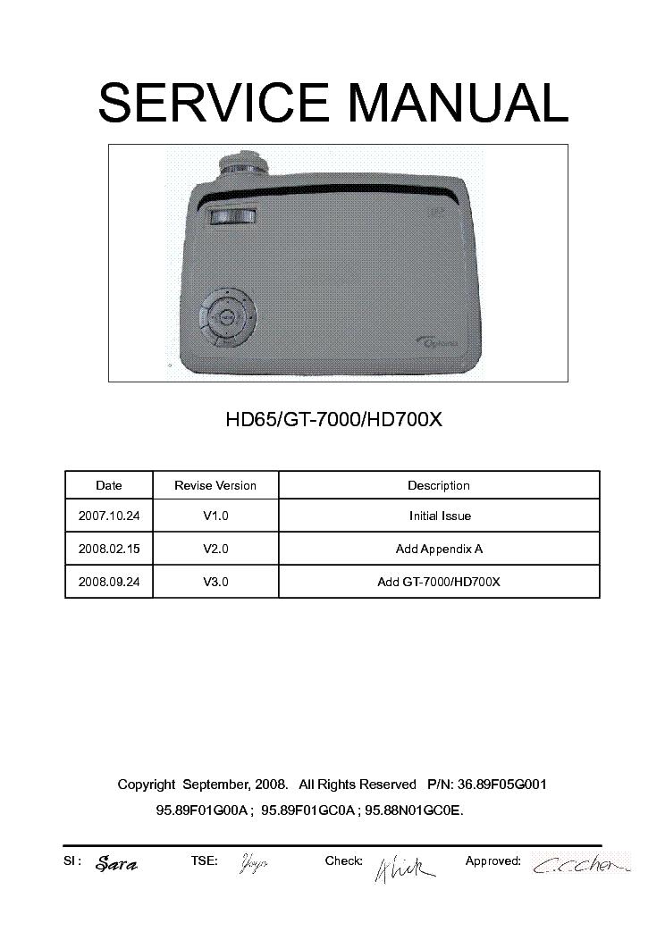 optoma hd65 gt 7000 hd700x ver 3 0 service manual download rh elektrotanya com optoma hd20 specifications optoma hd20 manual download