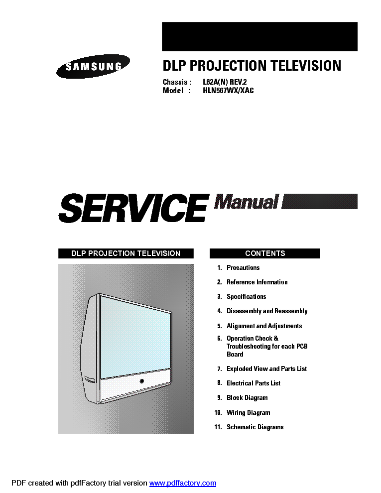 samsung hln567w dlp service manual download schematics eeprom rh elektrotanya com Samsung Schematics Samsung Owners ManualDownload