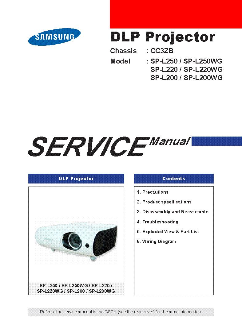 Samsung sp l200 sp l220 sp l250 wg chassis cc3zb sm service manual samsung sp l200 sp l220 sp l250 wg chassis cc3zb sm service manual swarovskicordoba Gallery