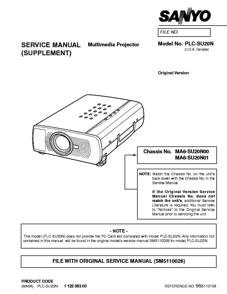"sanyo plc su20n service manual download schematics eeprom repair rh elektrotanya com marantz ma-6 service manual Gateway MA6 15"" Notebook"