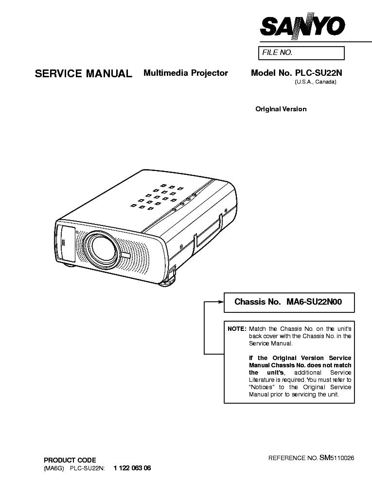sanyo plc su22n sm service manual download schematics eeprom rh elektrotanya com marantz ma-6 service manual MA6 Aircraft